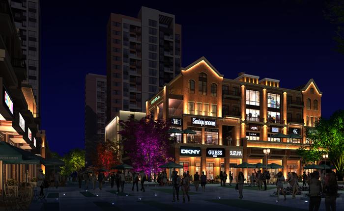 商业街夜景亮化设计的核心 风格定位图片